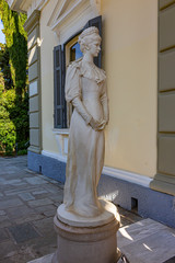 A statue of Empress Sissi at her Palace in Gastouri on Corfu, Greece