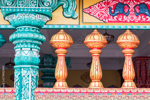 Background colors in the temple of the Batu Caves in Malaysia, Kuala Lumpur Canvas Print