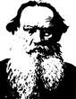 lion Tolstoy portrait vector
