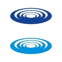 Blue Whirlpool Logo Template Illustration Design. Vector EPS 10.