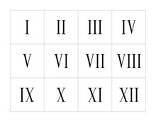 Set Of Roman Numerals Isolated...