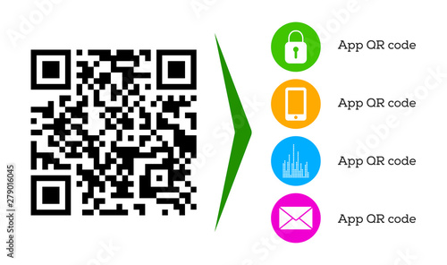 Modern QR code for mobile app downloading and scanning