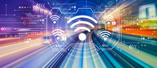 Wifi With Abstract High Speed Technology POV Motion Blur