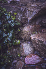 Water Dripping Over Stones