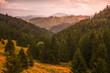 Beautiful Autumn Landscape Lit by Golden Light. Low Tatras, Slovakia.