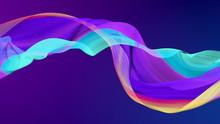 Modern Colored Poster, Color Dynamic Wave Flow, 3d Render