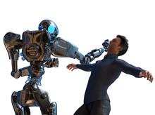 Concept Robot Vs Man Fighting ...