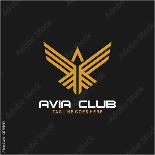 Avia Club Logo Design Inspiration Canvas Print
