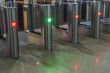 Electronic gateway for inspection and access of modern subway stations and railway stations