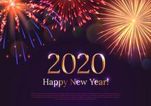 Happy New Year 2020 Greeting C...