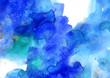 canvas print picture - Abstract colorful watercolor background for graphic design, hand painted on paper