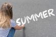 canvas print picture - Eine Frau und Sommer