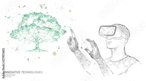 Stampa su Tela  Virtual digital biotechnology tree engineering concept