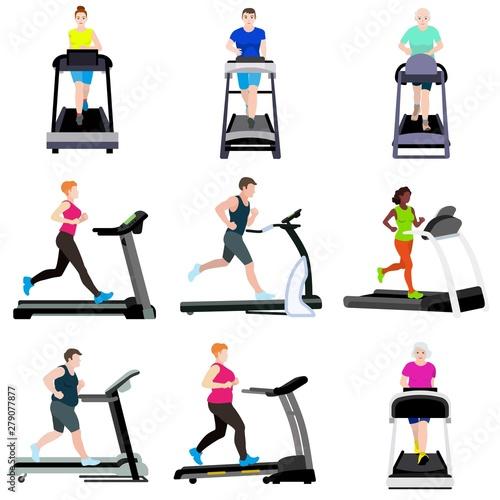 Fototapeta Treadmill icons set