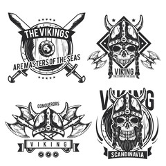 Set of viking emblems