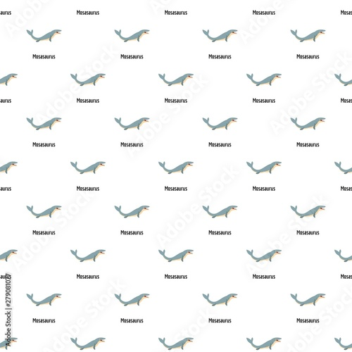 Mosasaurus pattern seamless vector repeat for any web design Canvas Print