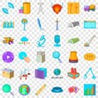 Repair cons set. Cartoon style of 36 repair vector icons for web for any design
