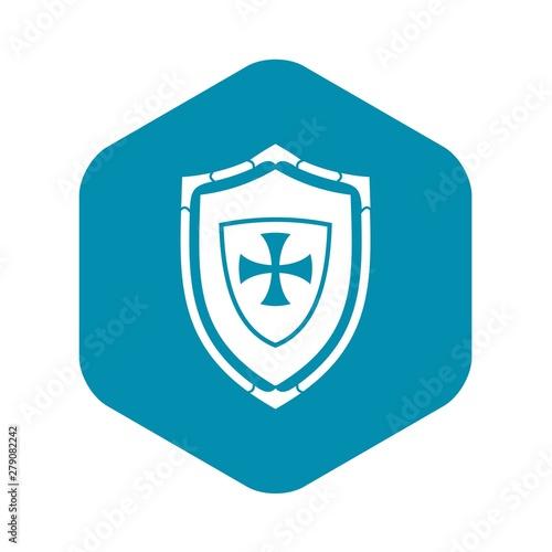 Fototapeta Shield with cross icon