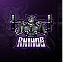 Rhino Sport Mascot Logo Design