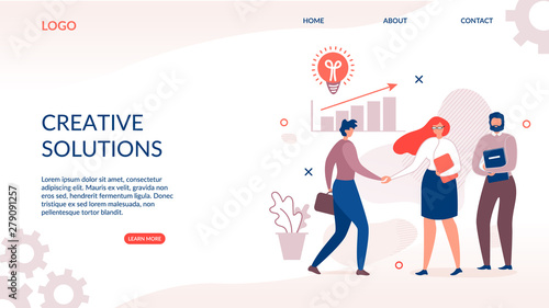 Photo  Landing Page for Creative and Innovative Solution
