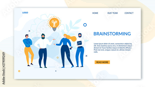 Brainstorming Design Landing Page for Business Wallpaper Mural