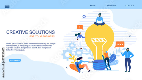 Photo  Generate Creative Solution Business Landing Page