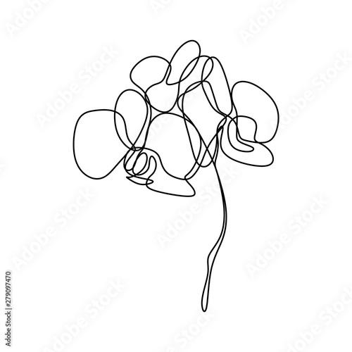 Cuadros en Lienzo Hand drawn orchid flower