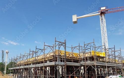Vászonkép Gru nel cantiere edile - lavori in corso