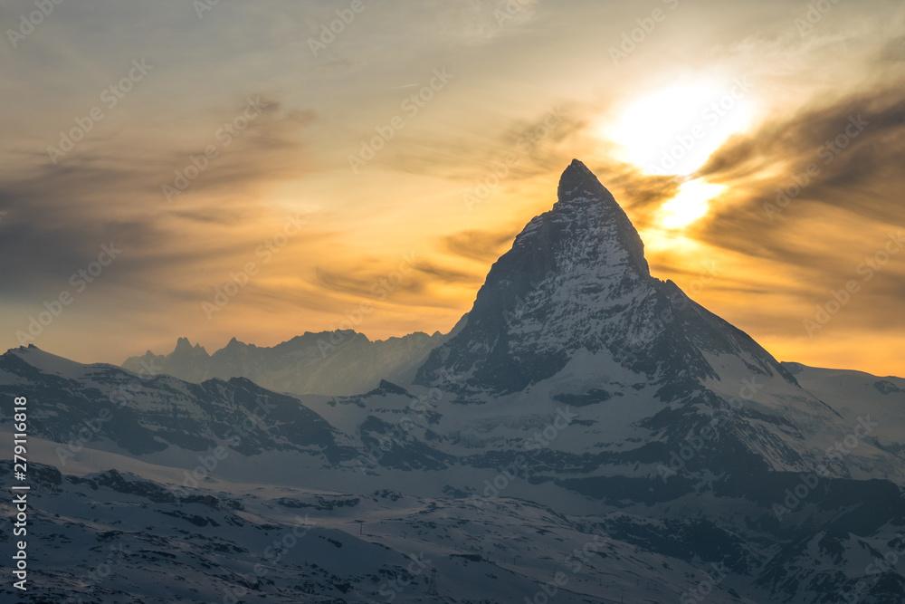 Fototapety, obrazy: Scenic view of Matterhorn, Switzerland