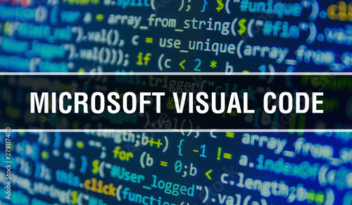 microsoft visual code concept illustration using code for developing programs and app Canvas Print