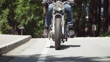 Slow Motion Of Motorcyclist Wi...