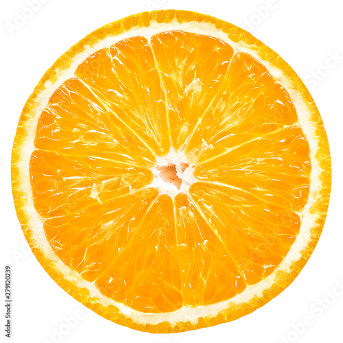 Vászonkép Orange slice isolated