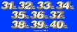 canvas print picture - Percentage numbers VOL.4 Gold metallic finish with removable background.