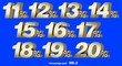 canvas print picture - Percentage numbers VOL.2 Gold metallic finish with removable background.