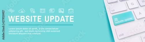 Obraz na plátně Website Update Icon Set with Web Header Banner