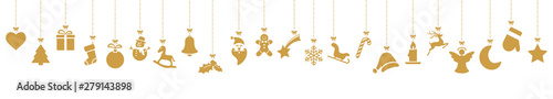 Obraz collection of hanging christmas icons - fototapety do salonu