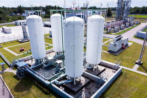 Photo  Aerial view of Liquid chemical tank terminal, Storage of liquid chemical and pet
