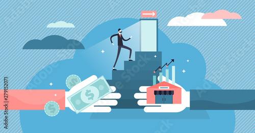 Fotografía  Exit business vector illustration