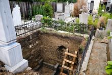 Large Grave Plot Dug Deeply Ou...