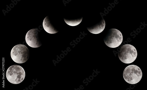 Photo  Partial Lunar eclipse visible at Bahrain on 16-17 July 2019