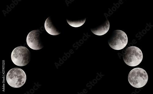 Fényképezés  Partial Lunar eclipse visible at Bahrain on 16-17 July 2019