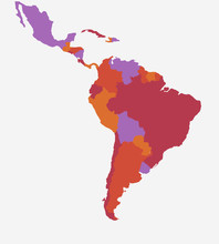 South America Map - High Detailed Isolated Vector Illustration