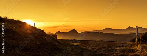 Fotoposter Eigen foto Sonnenaufgang am Col d'Aubisque in den Französischen Pyrenäen