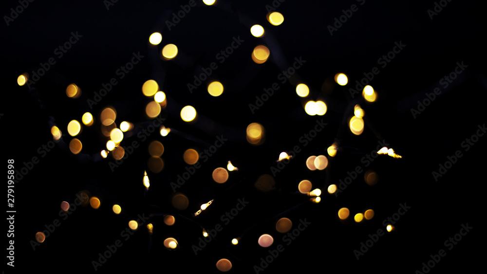 Fototapety, obrazy: Bokeh als Hintergrund Weihnachten