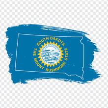 Flag Of  State South Dakota Fr...