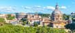 Church of Saint Luca and Martina, Italian: Santi Luca e Martina, in Roman Forum, Rome, Italy. Panoramic view