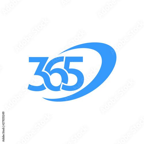 Obraz na plátne 365 icon with swoosh design vector