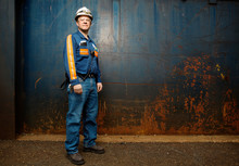 Portrait Of Worker In Protective Workwear