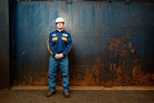 Portrait Of Worker In Protecti...