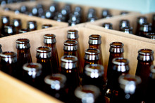 Beer Bottles Ready For Filling